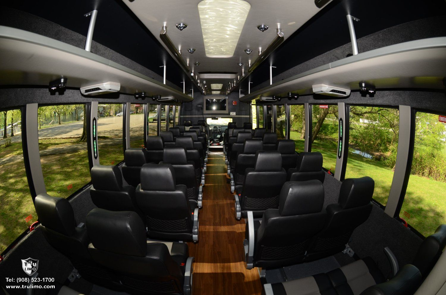 Interior: Conversion Executive VIP Minibus, Shuttle Bus Rental In DC