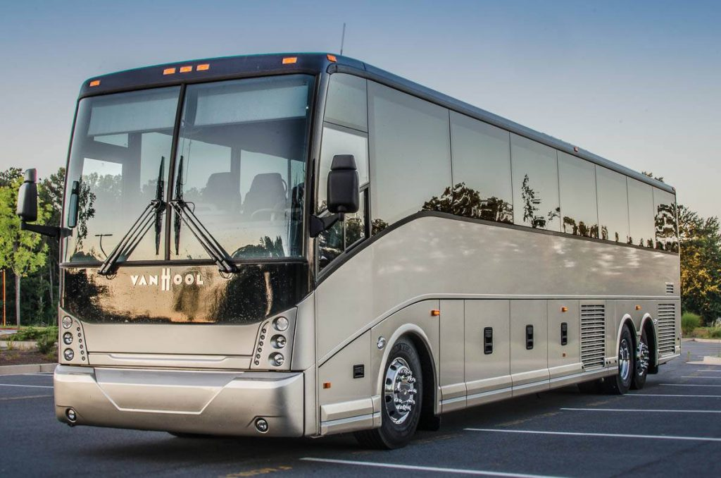 Luxury 50-57 passenger Coach Charter Buses