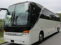 Luxury 57 seater charter bus with bathroom