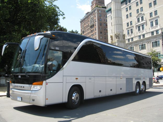 luxury 56 passenger motorcoach for hire
