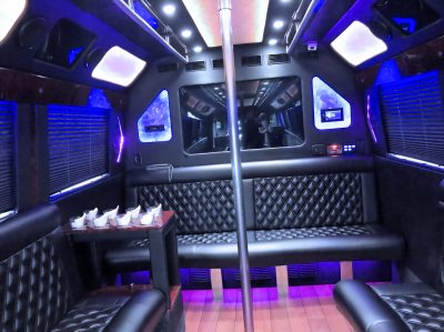 Luxury limo party-bus